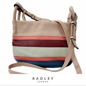 Radley London Wren Street Small Crossbody Bag Leather Striped
